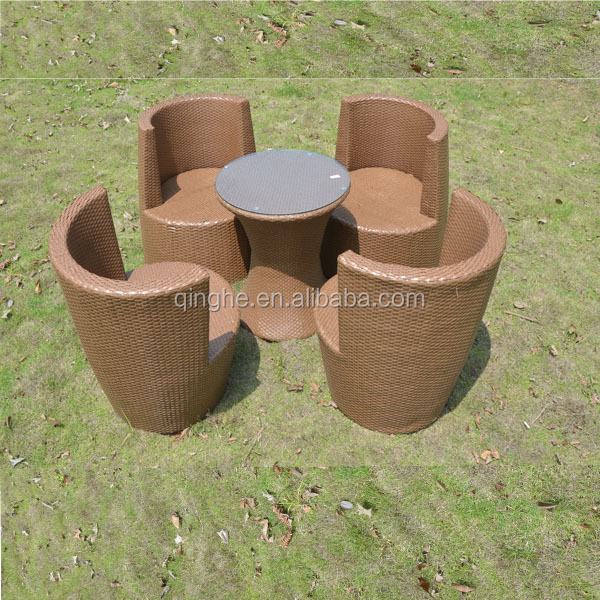 QHA-2082 Rattan Stackable Vase Sofa Outdoor & Sofa Rattan Furniture & Rattan garden outdoor sale & space saving furniture