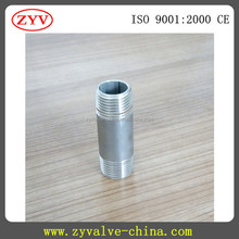 high quality ansi 304 stainless npt thread nipples