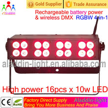 LED slim par battery powered wireless DMX par stage light/night club disco party wedding led lighting/professional dj