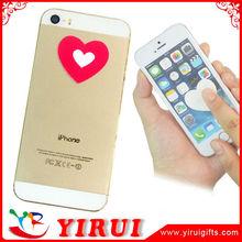 YS116 heart shape self adhesive microfiber sticker screen cleaner