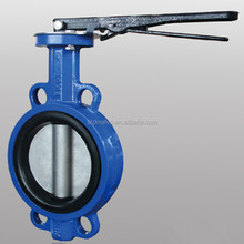 Cast Iron Wafer Butterfly Valve with hand Lever PN10/PN16/ANSI 150