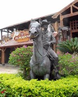 Casting Bronze Man Riding Horse Statue