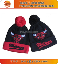 2015 custom beanie with embroidery logo/winter knit beanie hat/promotion knit beanie hat