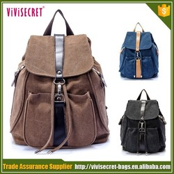 China supplier cheap Fashionable canvas backpacks, drawstring canvas backpack bag