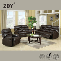 ZOY-91490 Modern Comfortable Sectional Functional Sofa Leather Furniture Design For Drawing Room