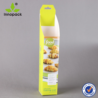 White Cardboard Hanging Snack Box for Bread DIsplay