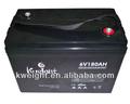 Solar de almacenamiento de energía de la batería 6 V batería Solar 180ah
