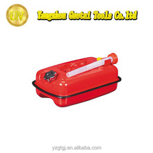 5l 0.6mm red steel oil drum with flexible spout