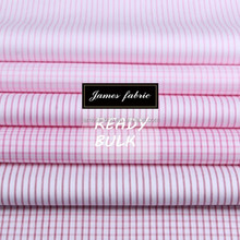 James 60S 100% Cotton Yarn Dyed Easy Care/Easy to Iron Twill Check/Plaid/Stripe Shirting Fabric