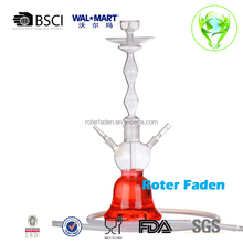 2015 new design large glass hookah , beautiful al fakher glass hookah , hand blown glass hookah