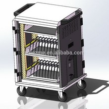ZMEZME charge security cart for 36 ipads charging cart,chinese manufacturer of tablet charging cart locker office furniture
