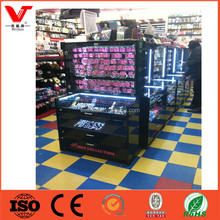 Fashion style jewelry showcase furniture design, tempered glass lockable jewelry display cabinet stands