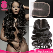 Quality guarantee 4*4nch cheap brazilian human hair body wave lace closure