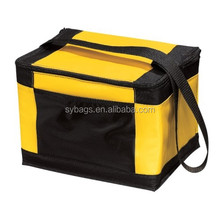 outdoor tote cooler bag for 12 cans / beautiful hot selling cooler tote bag / easy folding lunch cooler bag