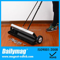 "Heavy Duty 24"" Magnetic Sweeper Pickup Tool with Quick Release and Height Adjustment"