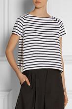 2015 A-line round neck t shirt, short sleeve casual stripe jersey tank top SYA15182