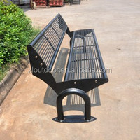 Outdoor furniture steel park bench