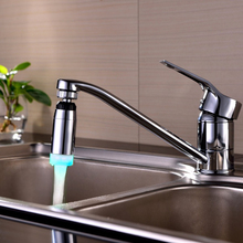 Single Color light 360 degree Rotation kitchen faucet aerator