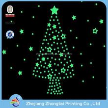 glow in dark sticker at christmas tree design