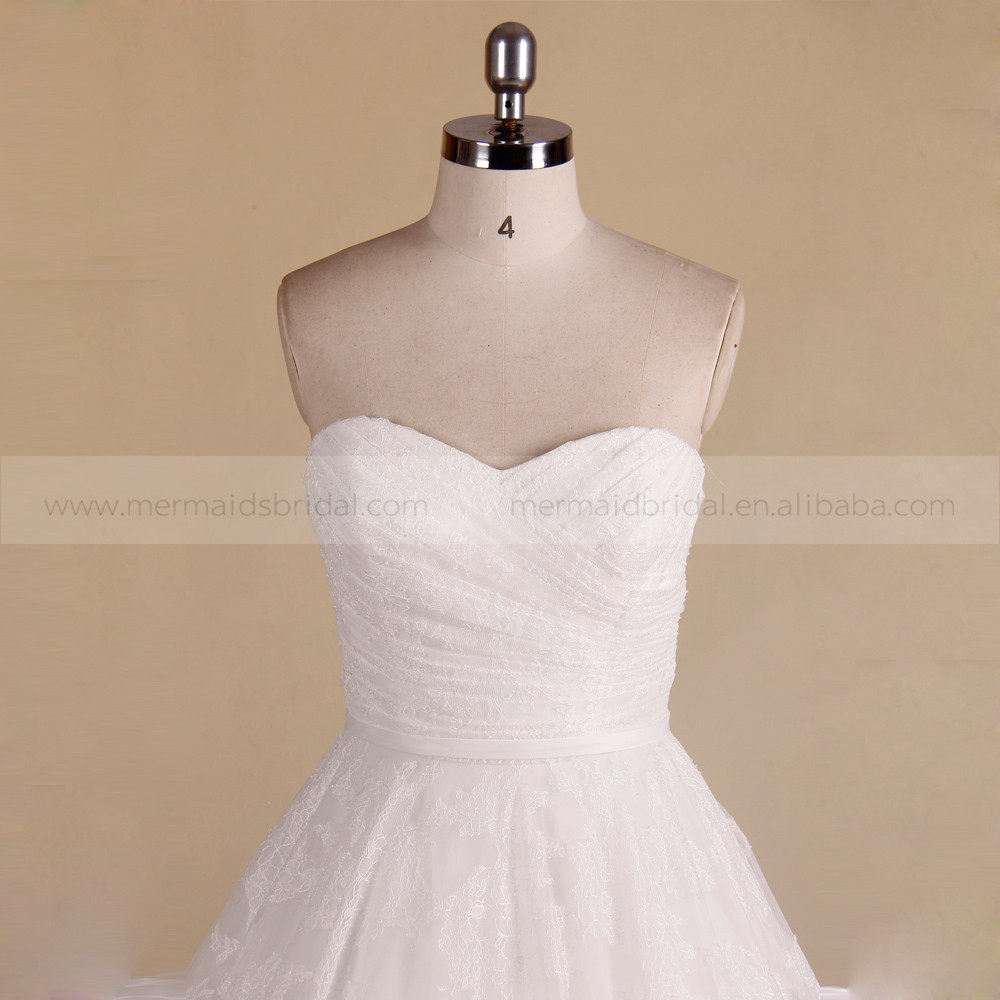 Ball Gown Wedding Dress Material : Back wedding ball gown with a long train buy latest dresses