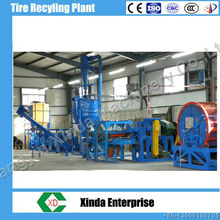 Xinda waste tyre recycling machine plant/rubber powder production line