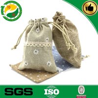 2015 new promotional small 100% cotton jute drawstring bags