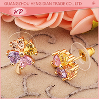 Factory direct supply zircon style stud earring base