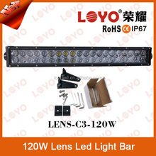 New design 22Inch 4D led lens light bar 4*4 light bar ATV 4WD 120W lens led light bar