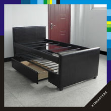 New product home furniture soft bunk storage pu leather bed