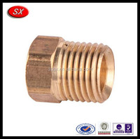 China high quality customized Brass Pipe Fittings dongguan brass flare fittings flare long nut