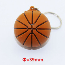 2015 Hot selling basketball ball shape 2gb usb flash drive 100% Capacity usb memory Stick Pen drive with metal key ring