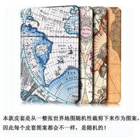 Ultra Slim World Map Folio Leather Case for iPad Mini 4,Leather Tablet Case for iPad Mini 4