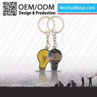 2015 High end souvenir metal key carabiner keychain