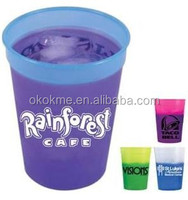 Newest plastic temperature color changing cup
