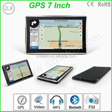 7 inch GPS with built-in 4GB memory and free map car gps navigation with latest all country maps gps navigator