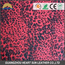 embossed leopard wholesale color synthetic pu leather for bags