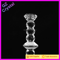 Glass candle stick holders stem for table decoration
