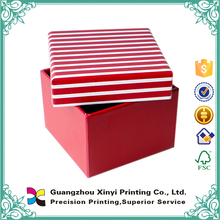 Custom Printed decorative gift nested cardboard boxes with lip