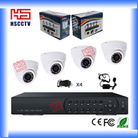 Full set easy to install 4CH indoor security office cctv systems