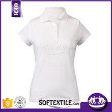 coloful beads pique fabric polo t shirt