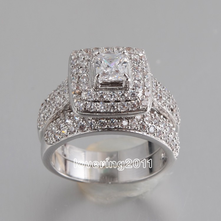 Victoria Wieck Lovers Pave Set Topaz 14kt White Gold Filled 2