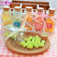 exquisite bottled mix fruit candy marshmallows