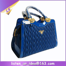 Hot Sale Ladies Brand Handbags Quilted Material Royal Blue Fashion Bag