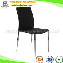 (SP-LC224) Modern metal leg banquet hall black leather dining chair