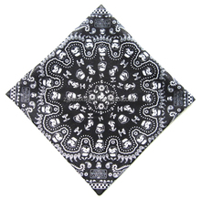 trendy kerchief with paisley pattens for waiter chef dancer printed bandana cotton headwear