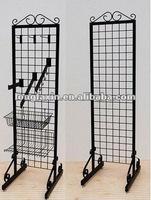 Double-sided Grid Merchandiser /Clothing Retail Display Garment Rack