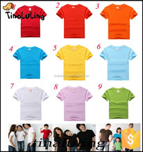Custom Design T shirts Plain colors t shirts for printing and emboridery