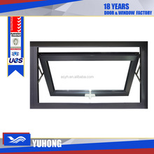 High quality aluminum double glazed awning window,top hung window
