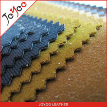 good quality Surface flocking pu synthetic leather for shoes imitation of velveteen backing pu material for shoes