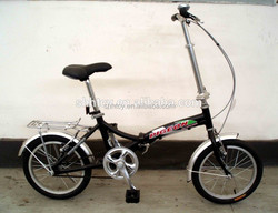 "16""passed ISO9001 black folding bicycle/bike/cycle SH-FD036"